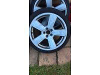 Set of rs6 alloys 18inch good condition few scob marks around edges 4 good tryes