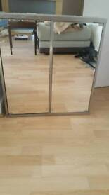 BARGAIN IKEA MIRRORED UNIT SILVER