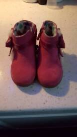 Pink suede toddler ugg boots