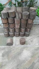 Garden wooden blocks