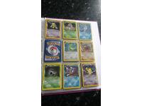 Rare out of print original Pokemon cards - near complete Team Rocket / Dark set