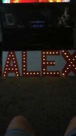 Special occasion ALEX light up sign