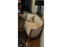 STYLISH 2 SEATER SOFA AND 2 BEAUTIFUL DINNING CHAIR IN PERFECT CONDITION