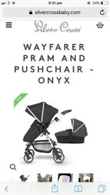 Black silvercross wayfarer Pram set!