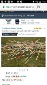 Giant pick up sticks in cloth bag for safe keeping £7