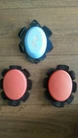 Oxford knee sliders (pair + 1free)