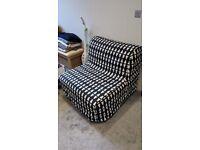 IKEA sofa bed Chair bed Ebbarp black/white LYCKSELE MURBO
