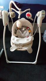 Graco baby swing ..Smartike ..Halfords car seat ..2+3 seater couch