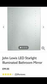 New JOHN LEWIS LED Starlight Illuminated mirror.