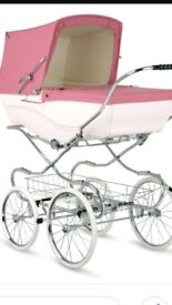 BRAND NEW PINK LIMITED EDITION BABY PRAM INC MATRESS BASKET BAG REIGNS
