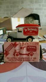 Dr Barnardos Van with certificate of authenticity