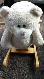 Wooden baby weavers rocking toy