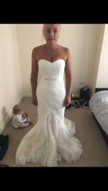 Size 10 worn wedding dress