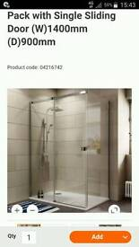 Cooke and lewis 1400 X 900 shower enclosure