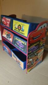 Lightning McQueen childs chair and desk plus storage unit