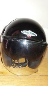 Caberg Open Face Motorcycle Crash Helmet with Built in Retractable Sun Visor S/M