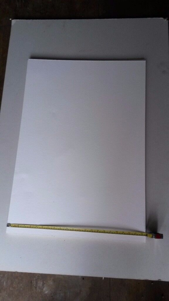 Graduate white mount board A1 83 x57cm 2mm mounting framing modelling Durham