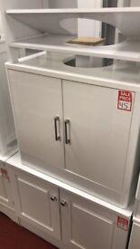 white gloss under sink unit