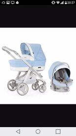 Baby blue bebecar travel system
