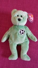"""Great condition TY beanie baby """"Kicks' with plastic cover on TY tag"""