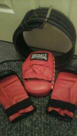 Weight belt ,boxing gloves pad