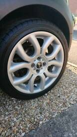 Genuine mini cooper s alloy wheels