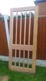 Real Wood Wodden Door 91 cm x 213 cm - Good Condition
