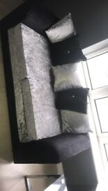 Crushed velvet sofa for sale comes as a set
