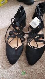 Black suede sandals (primark)