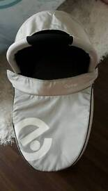 Pram carrycot from the oyster travel system