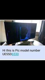55 inch broken screen tv