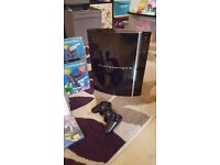 PS3 Console With games,controller and playstation move
