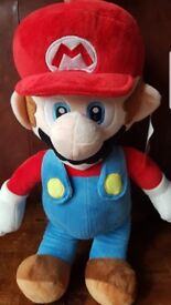 Super Mario soft plush stuffed teddy toy official Nintendo merchandise new condition