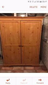 Good condition wardrobe.wood look few tiny marks but over all bargain