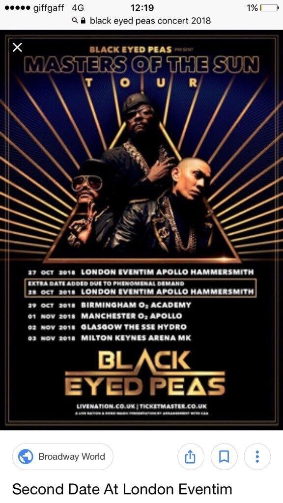 2 X Black Eye Peas Concert
