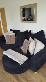 *PRICE DROP* seater pillow back sofa and swivel chair and comes with poffee all excellent condition