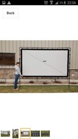 Electric projector screen.massive 120 inches