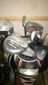 Right handed mixed golf clubs