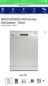 Beko silver dishwasher