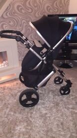 tutti bambino buggy comes in black /gold also have the grey / pink. Immaculate condition
