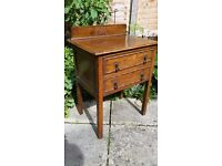 Vintage 20/30's two drawer occasional cabinet