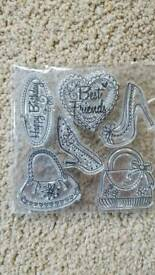 BAGS & SHOES CLEAR RUBBER STAMPS - BRAND NEW