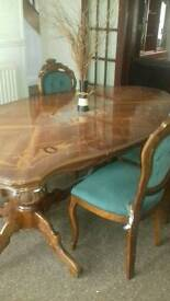 Dining set with tables and 6 chaird