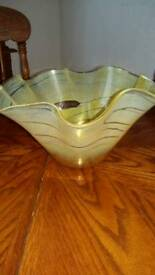 Handcrafted glass fruitbowl
