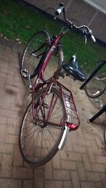 Red raleigh bike/bycicle