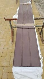 chocolate hollow soffit board 300mm wide