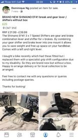 BRAND NEW SHIMANO EF41 BRAKE AND GEAR LEVERS/SHIFTERS