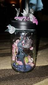 Light up fairy jar