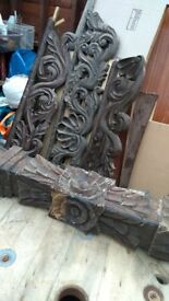 carved handmade solid wood, timber