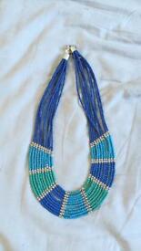 Blue necklace vintage